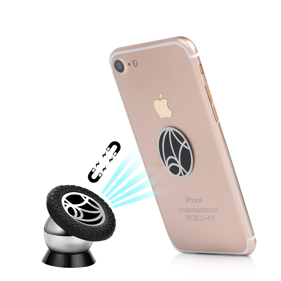 YeeSite Magnetic Car Mount Kit Holder for iPhone 7 6s 6 5s 5 4s 4 GPS Magnetic Phone Stand 360 Degrees Rotation