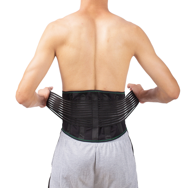 Lower Back Lumbar Spinal Spine Waist Brace Support Belt Corset Stabilizer Cincher Tummy Trimmer Trainer Weight Loss Slimming
