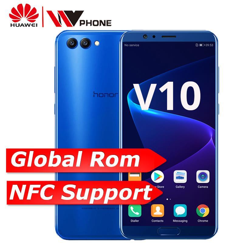 Huawei Honor V10 4G 6 4G вид 10 оригинальный мобильный телефон Octa Core 5,99 дюймов view10 двойной сзади отпечаток пальца камеры ID NFC Honor V 10
