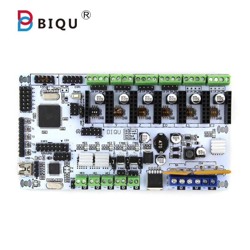 BIQU Rumba For 3D Printer Motherboard Rumba MPU / 3D Printer Accessories RUMBA Optimized Version control Board J339 biqu rumba control board for 3d printer motherboard rumba mpu rumba optimized version with 6pcs a4988 stepper driver
