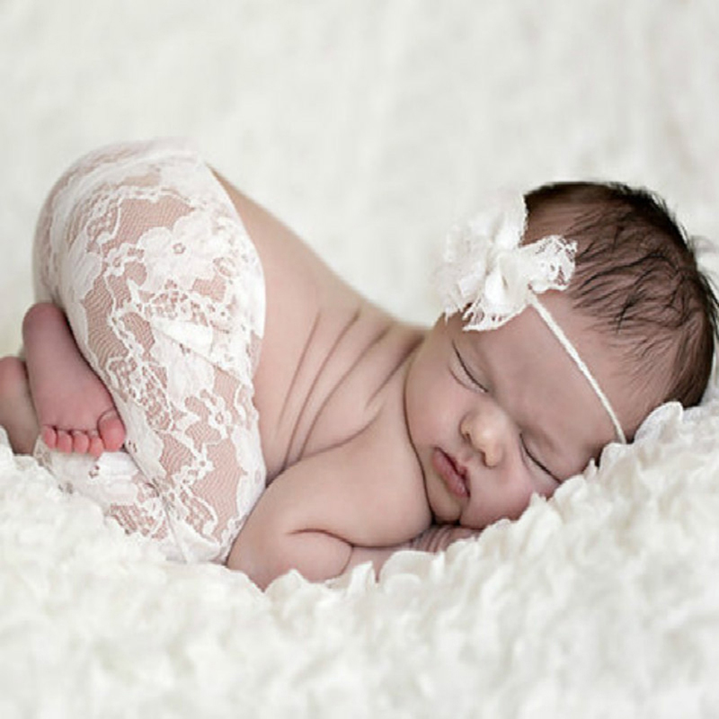 Headband-Set Lace-Pants Toddlers-Costume Infant Newborn Baby-Girls-Boys Photo-Props Outfit