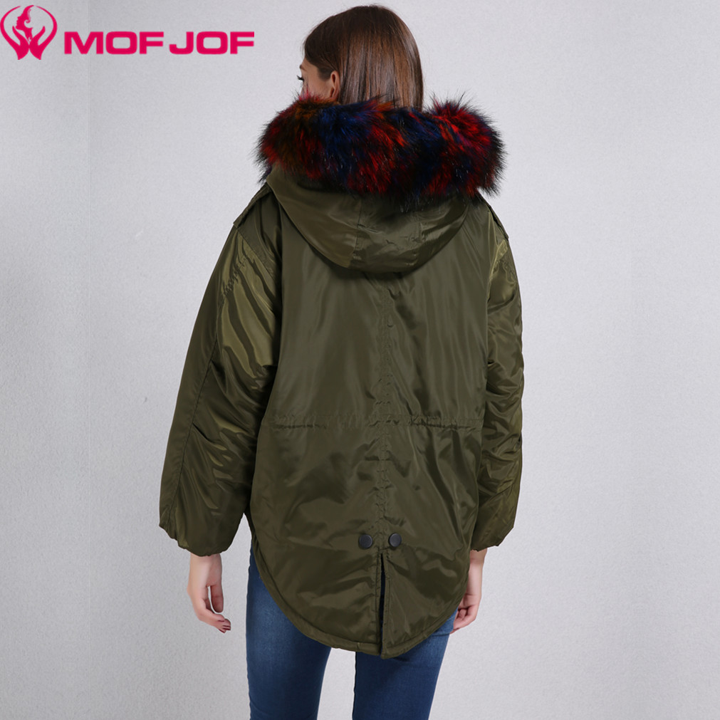 Women Hooded Parka Thin quilted jacket front short back long ...