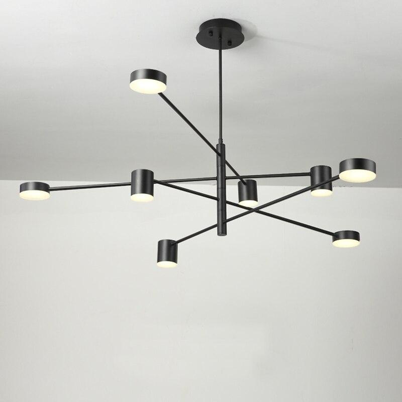 Moderno led pingente luzes para restaurante sala de jantar cozinha luz pendurar lâmpadas decoração para casa luminária forma rotativa lâmpada luminárias