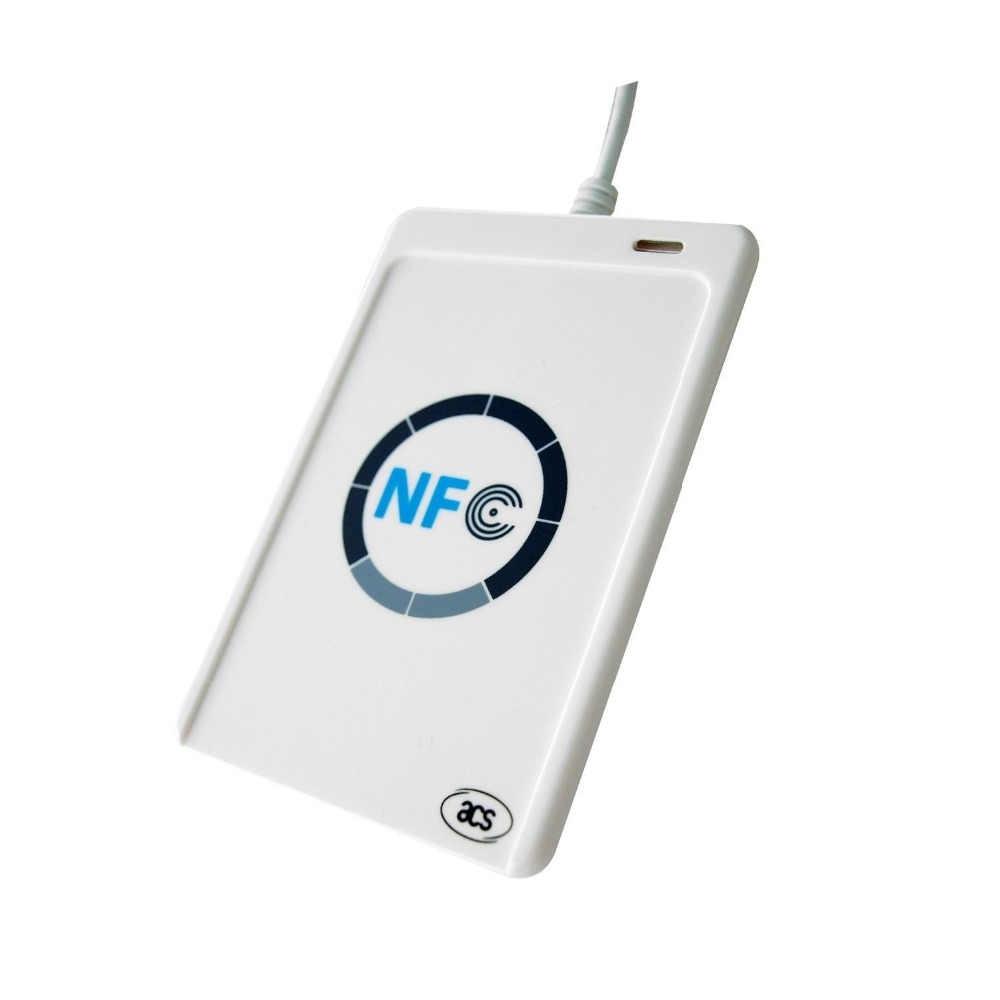 ACR122u NFC מתכנת סופר קורא 13.56 Mhz RFID מעתיק Cloner מעתק + 5 pcs כרטיסי UID + CD SDK + 1 K כרטיס עותק Clone תוכנה
