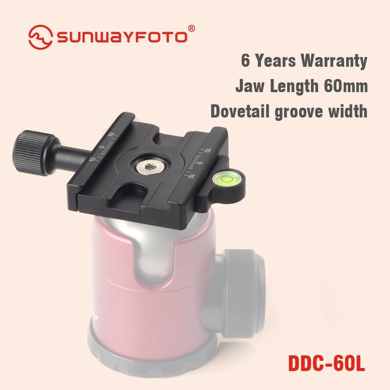 SUNWAYFOTO DDC-60L Statiefkop Snelkoppelingsplaat Voor DSLR-tripode - Camera en foto - Foto 6