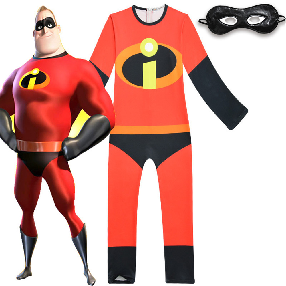 cosplay The Incredibles Costume Halloween Superman Costume For Kids Role Play Party Carnaval Toddler Jumpsuits Body suit/mask