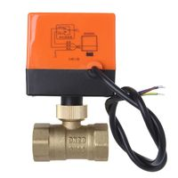 Electric Motorized Brass Ball Valve DN20 AC 220V 2 Way 3 Wire with Actuator