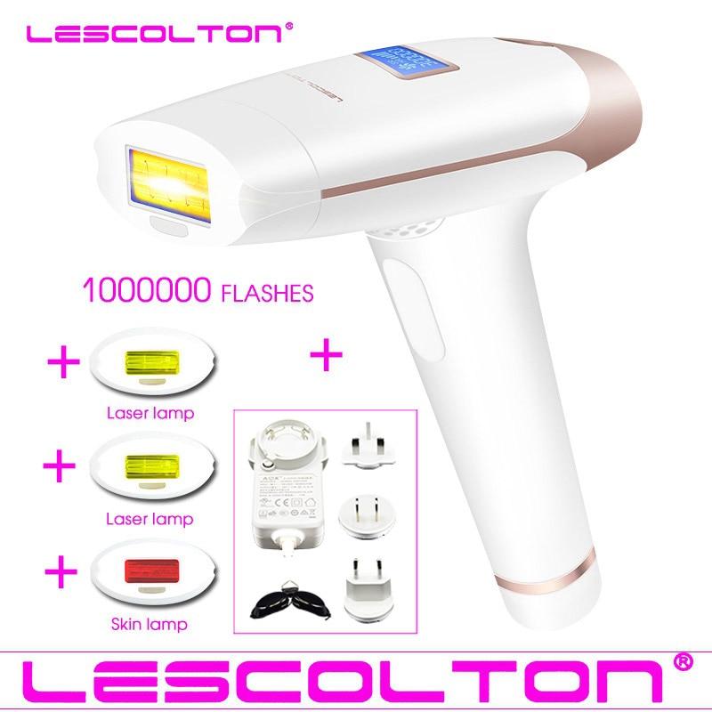 100% Original Lescolton 3in1 700000 Dispositivo de Remoção Permanente Do Cabelo Do Laser DO IPL da Remoção Do Cabelo DO IPL pulsada laser Depiladora Axila
