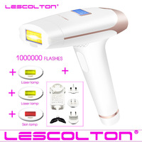 100% Original Lescolton 4in1 1000000 pulsed IPL Laser Hair Removal Device Permanent Hair Removal IPL laser Epilator Armpit