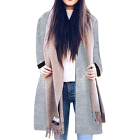 2017 Fashion Women Coat Autumn And Winter Slim Temperament Long Sleeves In The Long Section Of