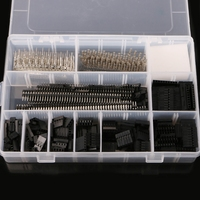 1450Pcs Set 2 54mm Dupont Connector Kit PCB Headers Male Female Pins Electronics