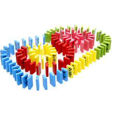 110pcs Educational Wooden Domino Math Toy