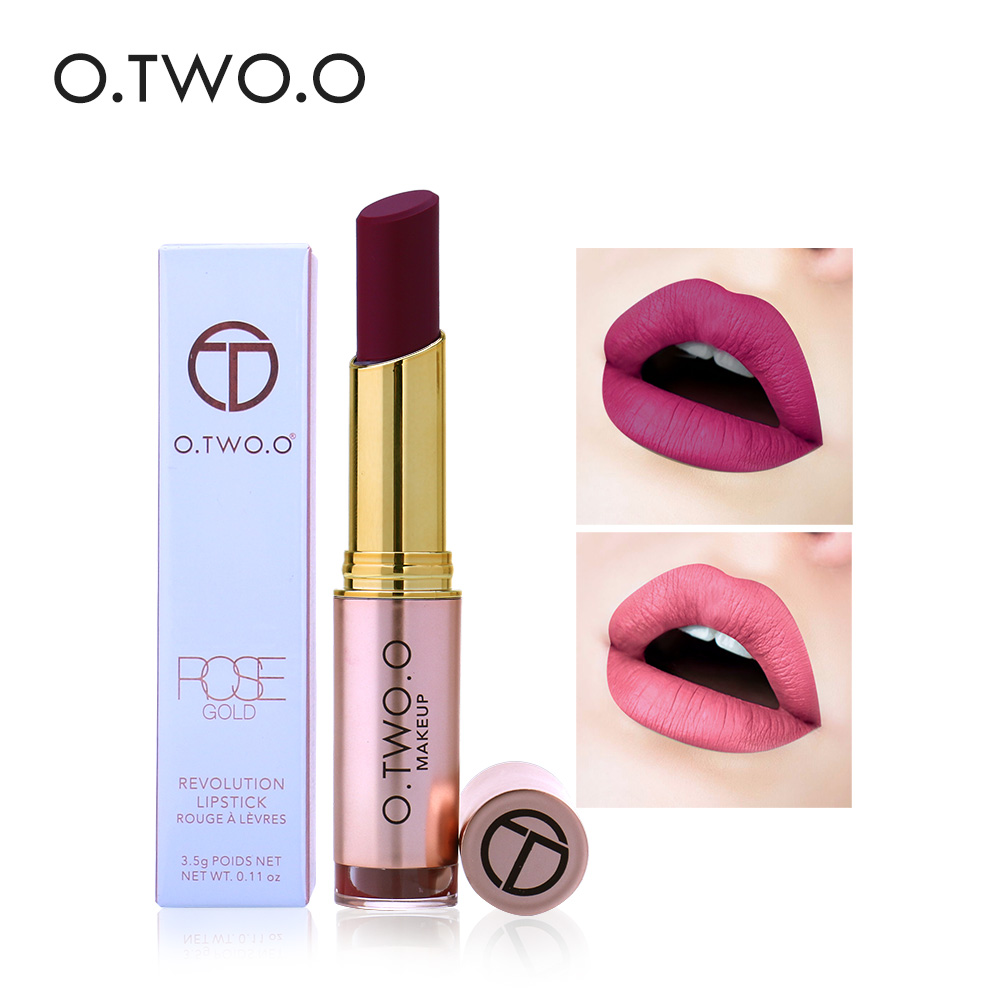 O. TWO.O Lippen Make-up Matte Lipstick 12 Sexy Kleuren Fluwelen - Make-up