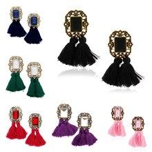 Fashion Women's Bohemian Vintage Rhinestone Tassel Dangle Hook Drop Earrings New t44