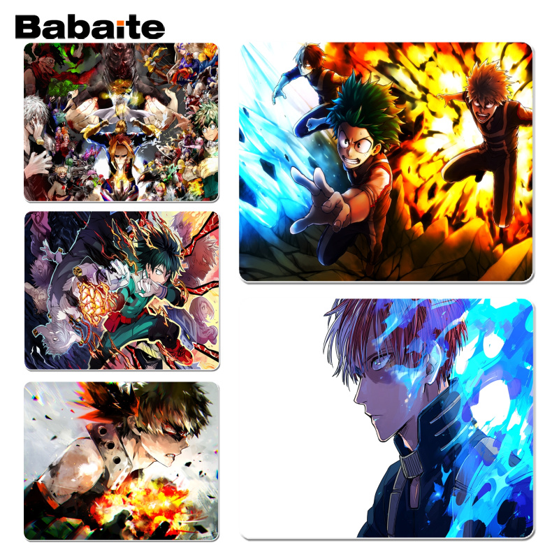 Babaite New Designs My Hero Academia Laptop Computer Mousepad Size for 180x220x2mm and 250x290x2mm Small Mousepad