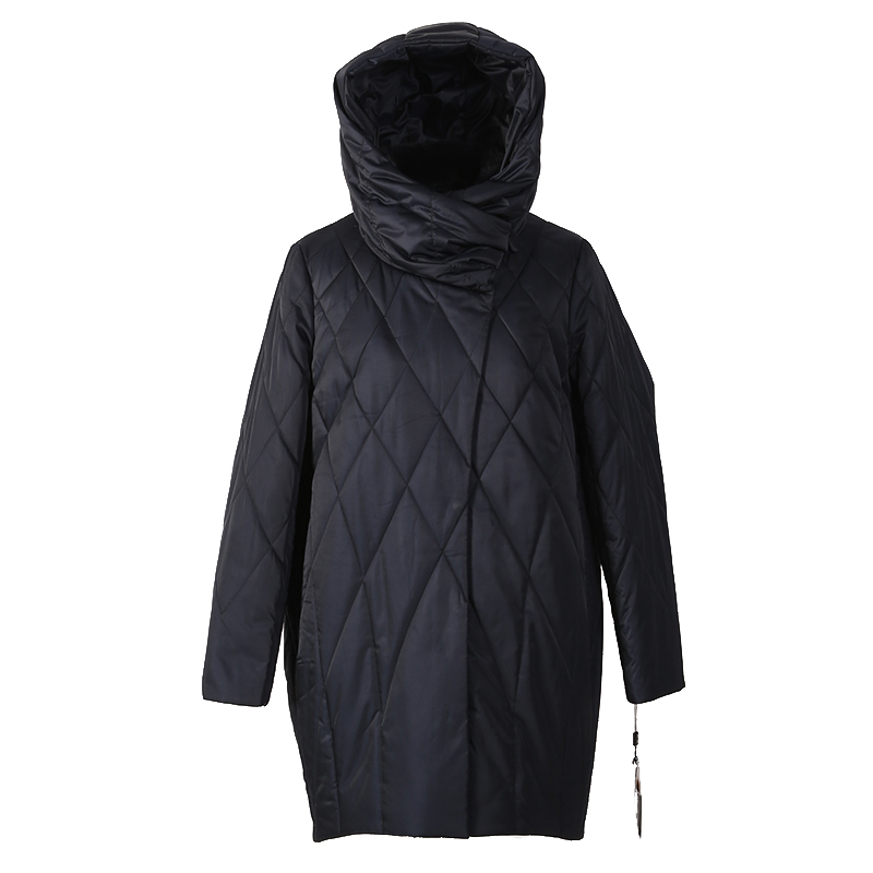 women winter coat   parka   jacket rabbit fur detachable collar hooded High quality material plus size 7-1810 D