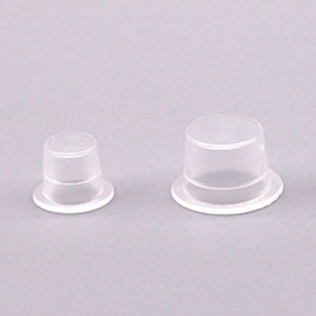 HOT 100Pcs Plastic Tattoo Ink Cups For Permanent Tattoo Makeup Eyebrow Makeup Pigment Container Caps Disposable Accessories 2