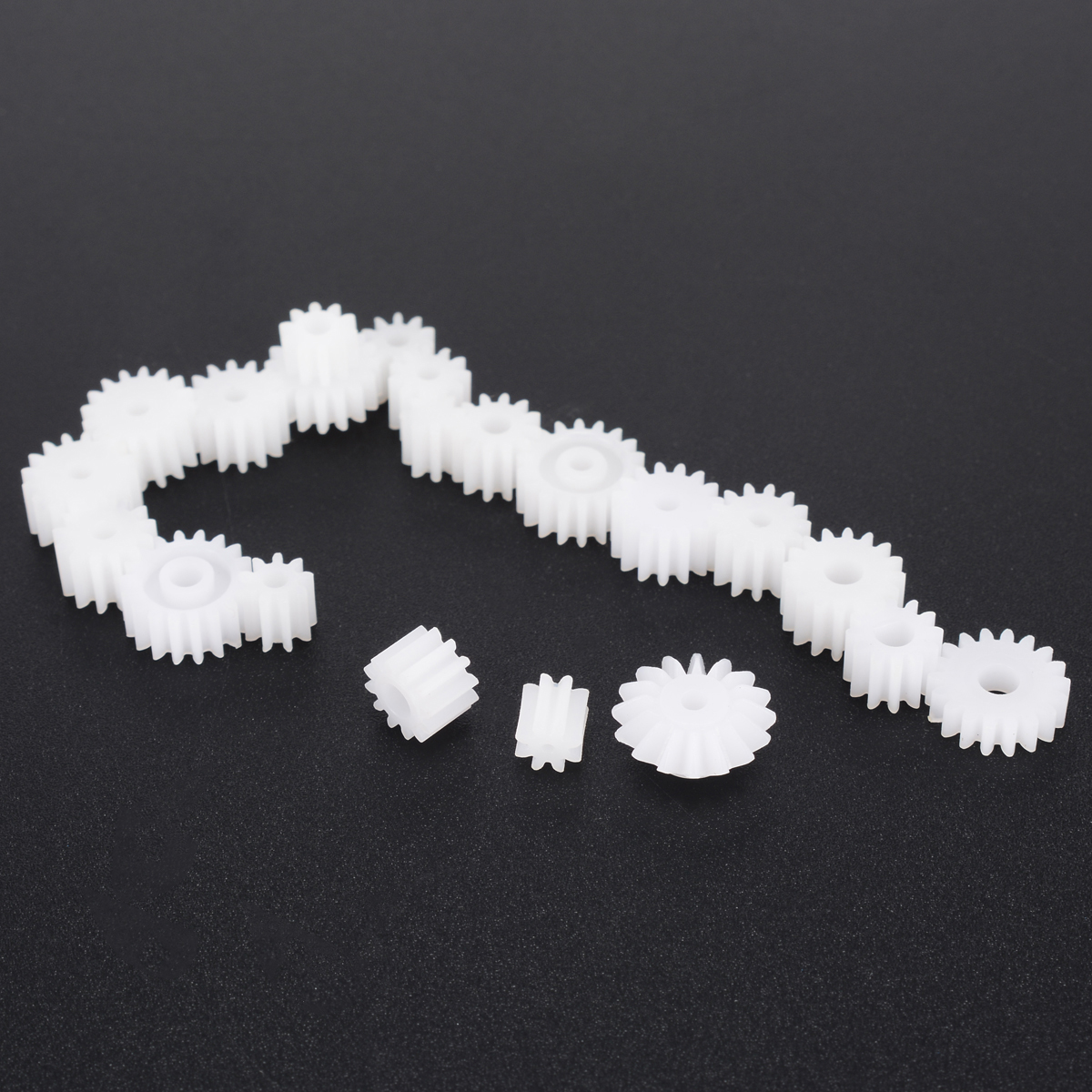 Plastic Gear Kit Shaft Single Double Layer Crown Worm Cog Wheels for Toy Robot Motor Model Accessories 64pcs