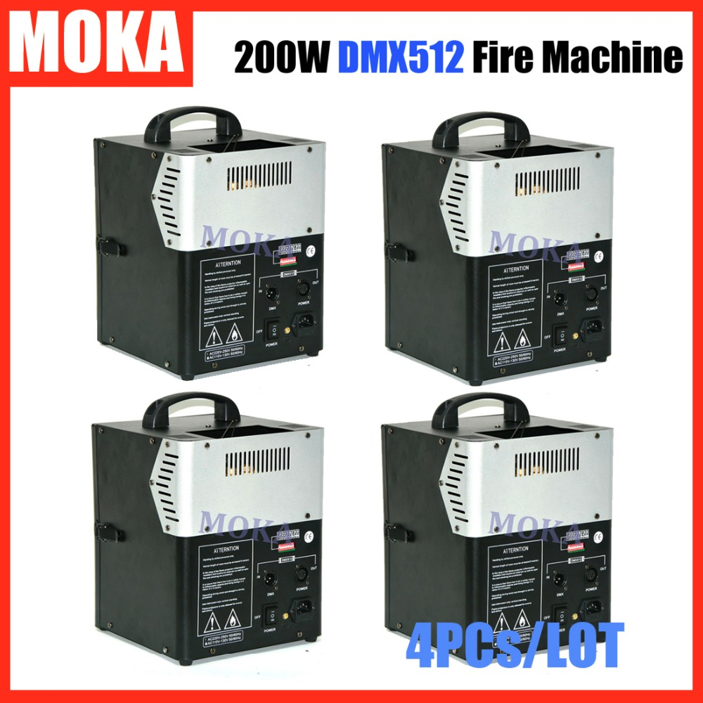 4 Pcs/lot chinese hot sale stage special effect 200w 2 head flame machine dmx 512 Fireworks Spray Fire Machine Two Room For Fuel 2pcs lot fire machine flame machine 3m height special effect fire spray machine dmx 512 fire thrower