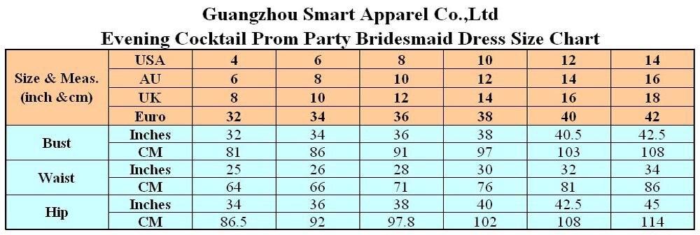 size chart (US4-14)