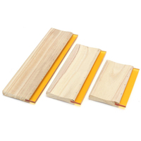 3pcs Lot 16cm 24cm 33cm Silk Screen Printing Squeegee Mayitr Wooden Handle Squeegees Ink Scaper Scratch