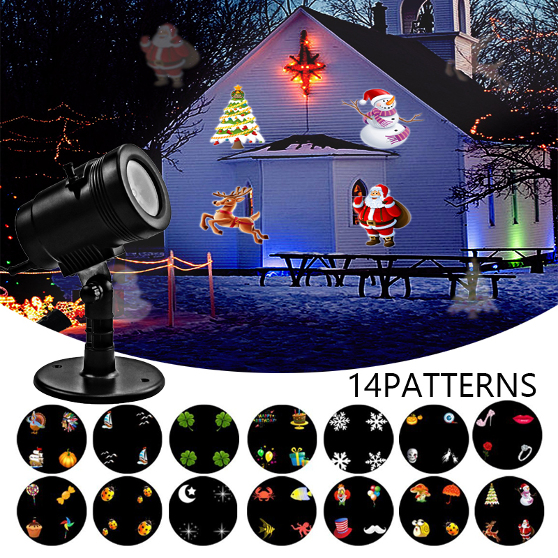 New! Waterproof LED Christmas Projector Light IP65 Star Ghost Turkey Snowflake Santa For Party Thanksgiving Christmas Decoration