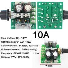 1 adet DC motor Geniş Voltaj PWM Yüksek Hızlı 12 V-40 V Anma 8A Max 10A 400W Frekans: 13K LED Dimmer DIY Panel LED Şerit Işık için