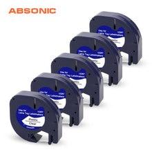 Absonic 5 шт. 12267 91330 91220 2 мм черный на белом фоне для DYMO клейкая лента 12267 производитель Этикеток DYMO принтер для этикеток DYMO
