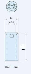 100pcs/lot Diameter 4mm Nylon PCB Board Mount LED Spacer