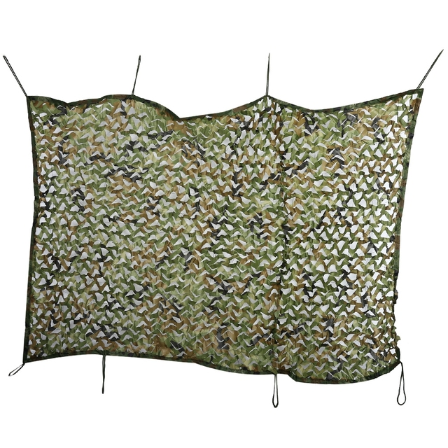 2*1.5M Tarp Military Camouflage Netting Sun Shelter Tourist Beach Tent 150D Polyester Sun Shelter Car-covers Tent Camouflage Net