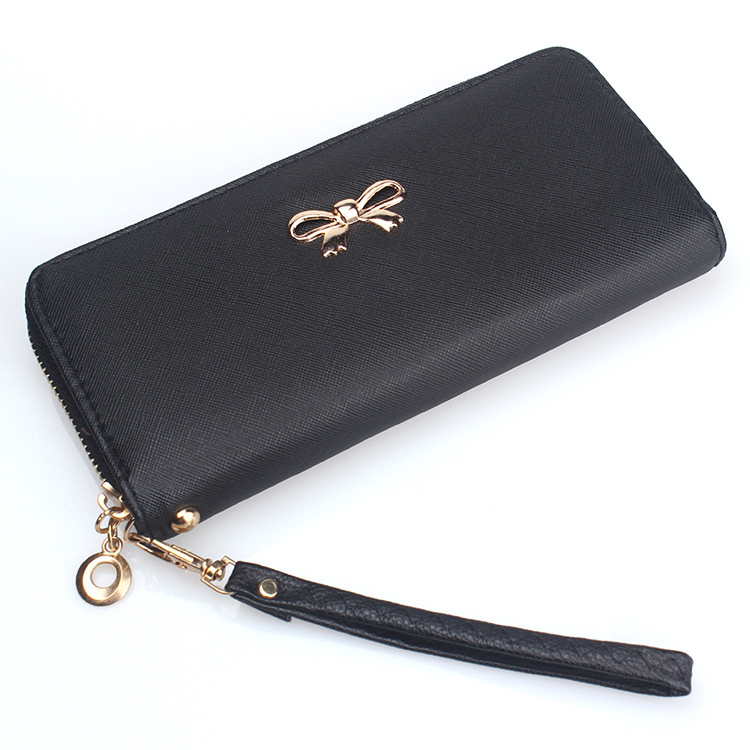 Women Wallets 8 Candy Colors Good Quality Cute Bow Lady Handbags Woman Clutch Zipper Coin Purse Cards ID Holder Wallet Money Bag