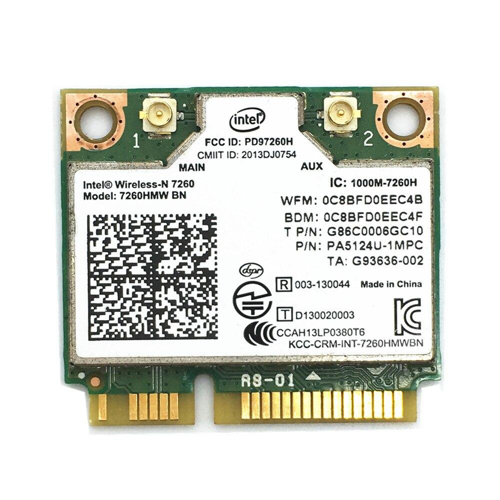 Para 7260 inalámbrico-N Intel 7260HMW BN 802.11bgn 4,0 Mbps Bluetooth 300 Mini PCI-E tarjeta Wifi