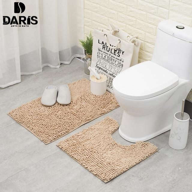 Anti Slip Bathroom Floor Mat Machine Washable Microfiber Chenille Bath Mats Toilet Door Outdoor