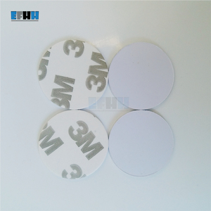 Image 3 - 125KHZ EM4100 Diameter 25mm RFID Coin Card With 3M Adhensive Sticker Read Only TK4100 ID Card In Access Control Card 1Pcs/lot