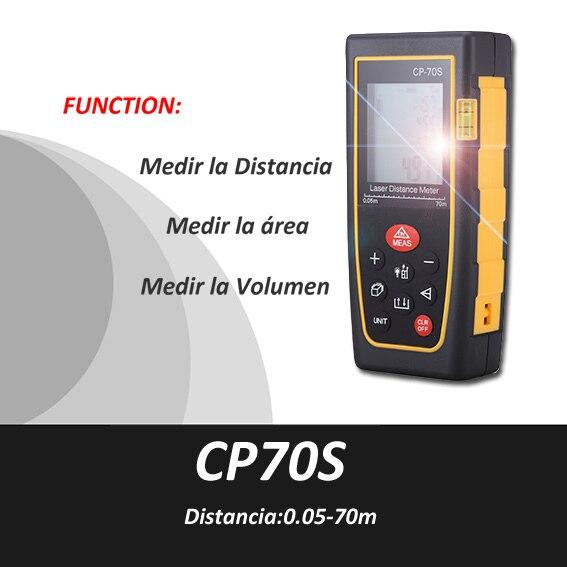 ФОТО Trena Metro laser, Medidor Distancia Laser,0.5-70m, Medidor volumen laser,medidor area laser, range finder,Cinta Metrica, CP70s