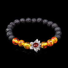SA SILVERAGE 2019 Round Purple Crystal Beads Bracelets Party Energy Yoga Wristband Men Women New Bracelet Natural Stone