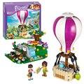 Bela 10546 bloques de construcción ladrillos juguetes amigos heartlake globo de aire caliente de la muchacha juego juguetes para niños de regalo lepin decool 41097
