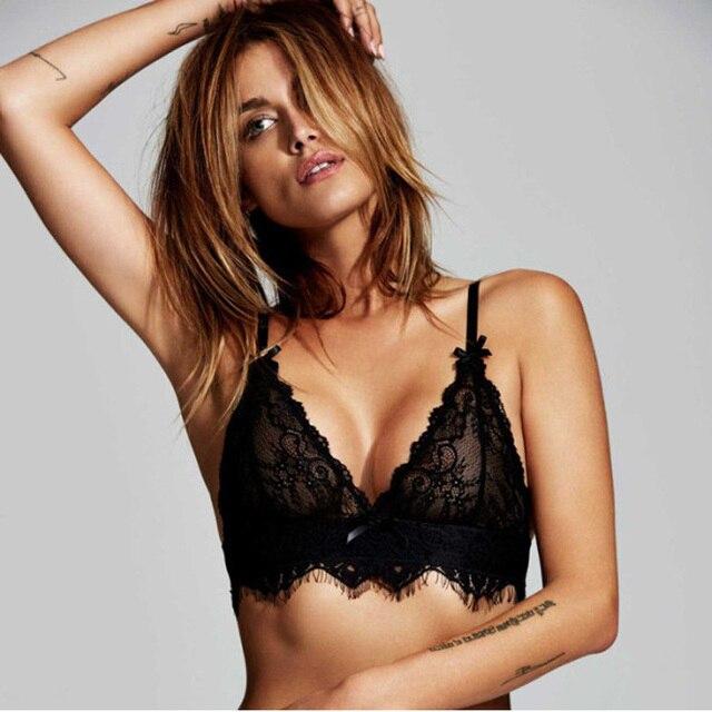a82ea233e0e2d Lace Unlined Triangle Bralette Unlined Bra Wireless Brassiere Bralet Sexy  Intimates Ultimate Crop Top Underwear Women