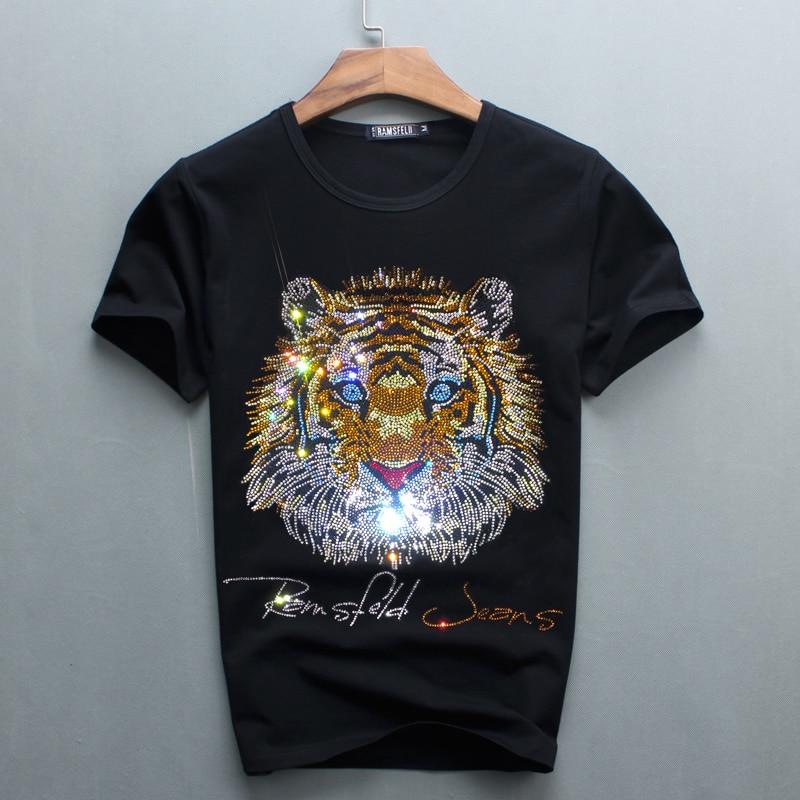 Partihandel Hot Sale Sale O-Neck Men Luxury Diamond Design Tshirt - Herrkläder - Foto 1