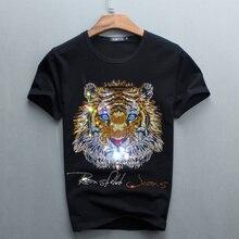 Wholesale Hot Sale Sale O-neck Men Luxury Diamond Design Tshirt Fashion T-shirts Funny T Shirts Brand Cotton Tops And Tees 2017
