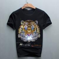 Wholesale Hot Sale Sale O neck Men Luxury Diamond Design Tshirt Fashion T shirts Funny T Shirts Brand Cotton Tops And Tees 2017