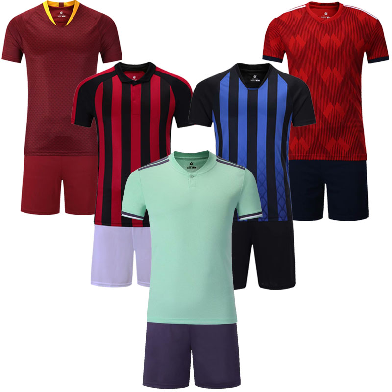 detailed look 99eed c4b74 US $14.6 20% OFF|Men's blank short sleeve soccer jersey men football  jerseys adult plain soccer uniforms customize any logos sports Futbol  kits-in ...