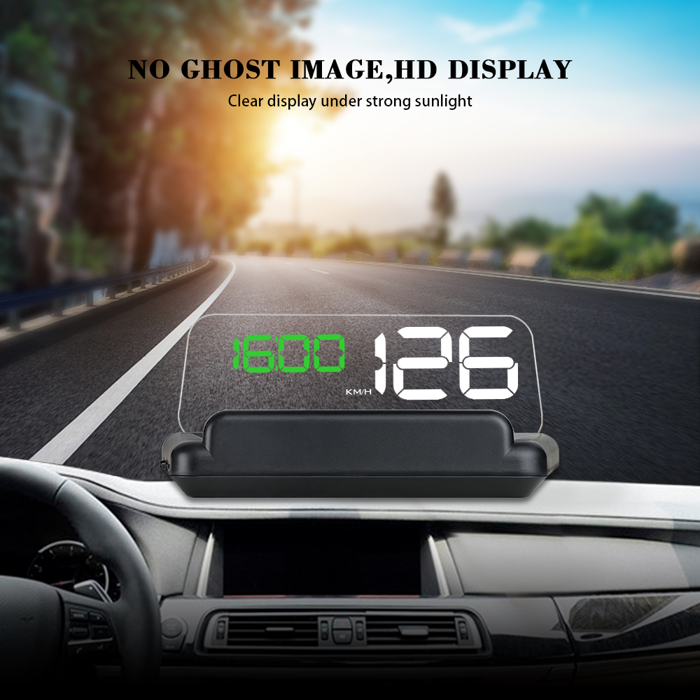 HUD GPS T900 Car Head Up Display Windshield Speed Projector OBD C500 Digital  Speedometer On-Board Computer Fuel Mileage Voltage