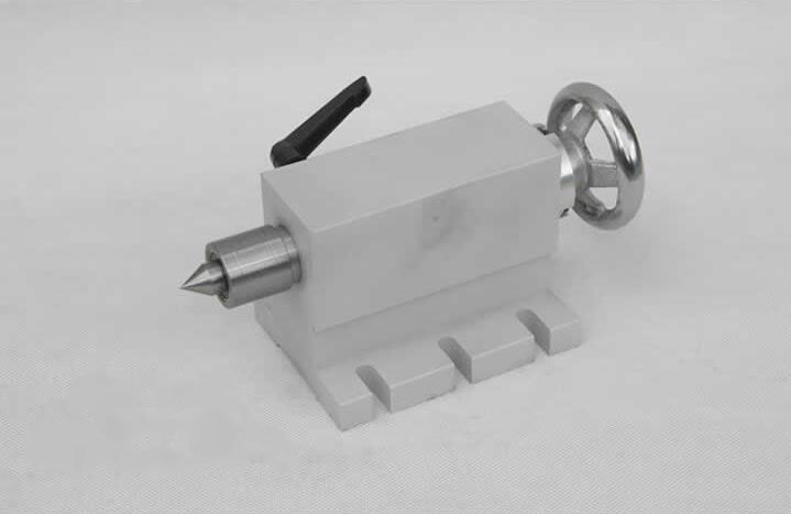 CNC tailstock for rotary axis,A axis,4th axis, cnc router machine 50mm engraving milling cnc 5 axis a aixs rotary axis three jaw chuck type for cnc router
