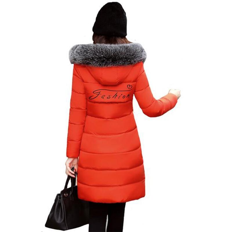 New Fashion 2017 Cotton Wadded Jackets Women Parkas Long Hooded Slim cotton Padded Coat Outwear Thicken Plus Size Coat LU397 цены онлайн