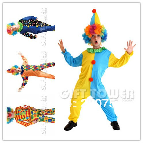 kids clown costumes/cosplay costumes for boys/halloween cosplay costumes for kids/children cosplay costumes free shipping