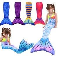 Fioday Girls Kid Mermaid Tail Dress Costume Mermaid Tail Beachwear Dreamlike Swimsuit Mermaid Swimmable Bathing Costume