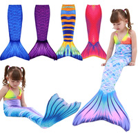 Fioday Girls Kid Mermaid Tail Dress Costume Mermaid Tail Beachwear Dreamlike Swimsuit Mermaid Swimmable Bathing Costume