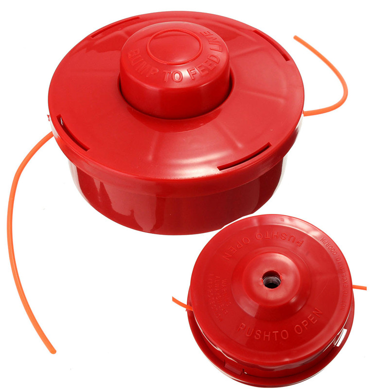 Universal Nylone Line Bump Cutting Trimmer Head For Brushcutters Strimmers Replacement (With 2.4mm Cut Red Rope) 2pcs philips sonicare replacement e series electric toothbrush head with cap