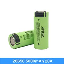 цена на 50A 26650 5000mah 26650-50A Li-ion 3.7v Rechargeable Battery for Flashlight 20A new packing High-rate 26650 cell Turmera    may9